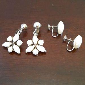 Vintage White Earrings